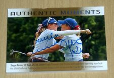 2014 UD SP Authentic Moments Golf on-card autograph Paula Creamer Cristie Kerr