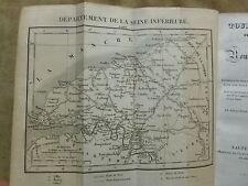 TOUR DE FRANCE Rouen Le Havre Dieppe Promenade descriptive hist. et statist.1827