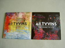 ALL TVVINS job lot of 2 promo CD singles Thank You Too Young To Live