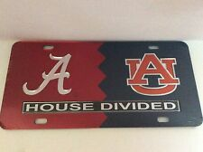 Alabama Crimson Tide/ Auburn Tigers House Divided License Plate Car Tag