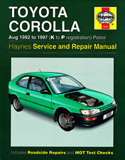 3259 Haynes Toyota Corolla Petrol (Aug 1992 - 1997) K to P Workshop Manual