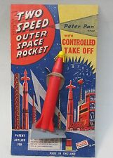 1950's TWO SPEED OUTER SPACE ROCKET Controlled Take Off ENGLAND Peter Pan MOC