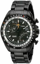 Timex Men's T2P103DH Intelligent Quartz Aviator Fly-Back Chronograph Black Watch