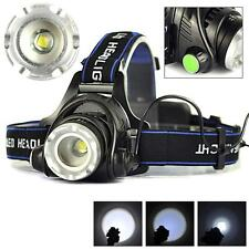 8000LM Zoomable CREE XM-L T6 LED 18650 HeadLamp Torch HeadLight Rechargeable WTC