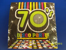 70's Decades Disco Dance Dancers Theme Retro Birthday Party Luncheon Napkins