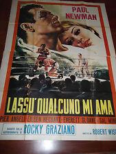 """MANIFESTO ORIG. DEL FILM """" LASSU' QUALCUNO MI AMA """" - PAUL NEWMAN - 1956 -"""