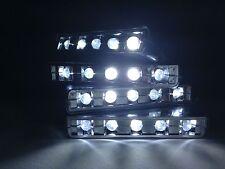 12V 5 LED pod DIY step accent lighting - Chrome housing - White LED color