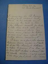 GASTON MANCHON Autographe Signé 1894 PEINTRE GRAVEUR ROUEN EXPO UNIVERSELLE 1900