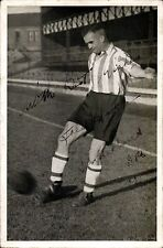 Soccer / Football. Sunderland Photo. Ink Signed Fred Hall. NOT A POSTCARD.