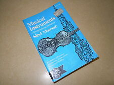 """"""" MUSICAL INSTRUMENTS """" A COMPREHENSIVE DICTIONARY by SIBYL MARCUSE - 608 PAGES"""