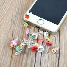10pcs Cute Fruit 3.5mm Earphone Ear Cap Anti Dust Plug Cover for Phone MP3 Z1H