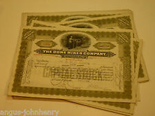 DEALERS WHOLESALE LOT of 25 DOME MINES CANADA STOCK CERTS MINING - OLIVE DRAB