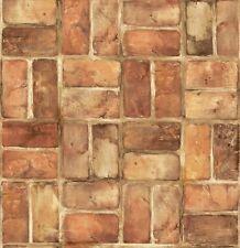Terra Cotta Brick In Check Pattern Wallpaper SF50301