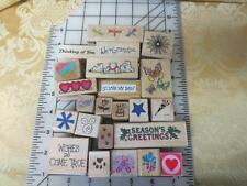 23 assorted rubber stamps - Grandpa Dad Wishes Holiday Animals Butterfly Love