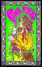 """3.25"""" 1960's style PINK FLOYD psychedelic rock STICKER. For glass bong or pipe."""