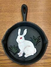 Rabbit Bunny Cast Iron Fry Pan Skillet Wall Hanging Decoration Ashtray
