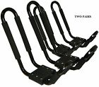 2 PAIRS J RACK CAR ROOF TOP CARRIER W/STRAPS+ROPES FOR KAYAKS - SUP BOARDS - NEW