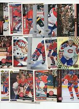 MONTREAL CANADIANS 50 HOCKEY CARD LOT 50 DIFFERENT PLAYERS NO DUPLICATES