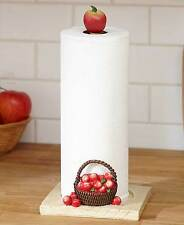 Red Apple Orchard Kitchen Paper Towel Holder Apple Bushels Country Apple Decor