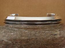 Native American Indian Jewelry Sterling Silver Bracelet by Tom Lewis
