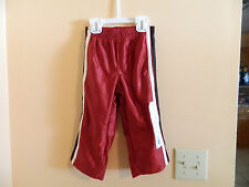 NWT Toughskins toddler boy track style pants biking red w/stripes down side 2T