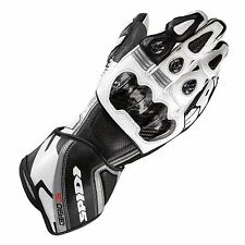 SPIDI CARBO 3 LEATHER MOTORCYCLE GLOVES WHITEBLACK XL