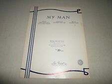My Man By Willemetz & Yvain Piano Music Score Sheet Song Voice in French/English