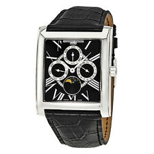 Frederique Constant Classics Carree Black Dial Moon Phase Mens Watch