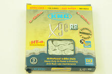 "KMC X9E RB 9 SPEED RUST BUSTER HEAVY BIKE DUTY CHAIN 1/2"" x 3/32"" 136 LINK GREY"