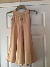 girls gold party dress marks & spencer 4-5 years