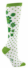 Sock It To Me Women's Funky Knee High Socks - Clover