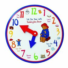 PADDINGTON BEAR TELL THE TIME JUGUETE DE MADERA RELOJ