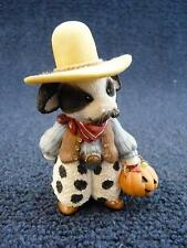 Enesco Mary's Moo Moos, Halloween Trick Or Treat Ma'am, Cowboy (pt874)