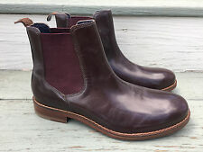 NWOB COLE HAAN C10869 Men 7W Brown Leather Chelsea Pull On Ankle Boot