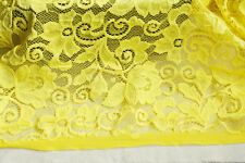 Lace Fabric Yellow Stretch Soft Flower Lace Wedding Fabric 59'' width 1 yard