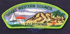 LMH PATCH Badge  BOY CUB SCOUTS  Great Western Council BSA  CA Green Border CSP