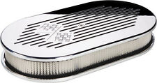 BILLET SPECIALTIES CROSS FLAGS POLISHED ALUMINUM AIR CLEANER,LARGE OVAL,15427