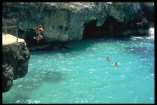 328019 Cliff diving Ztabi Negril A4 Photo Print