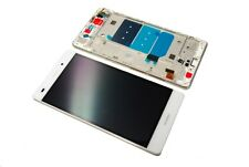 Original Huawei Ascend P8 Lite LCD Touch Screen Display Front Glas Rahmen white