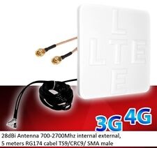 Mobile Broadband Antenna ZTE Aerial Booster MIMO MF283 MF283+ MF28D  SMA 28dbi