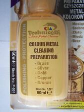 1 x 60ml COLOUR METAL CLEANER LIQUID POLISH FOR BRASS SILVER GOLD COPPER BRONZE