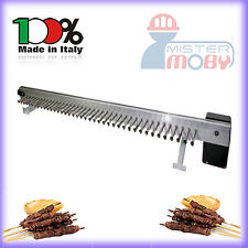 TECNOROAST ELECTRIC KIT SKEWERS ROLLERS STAINLESS STEEL FOR 40 KEBAB COOKING