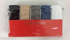Calvin Klein WOMEN'S 5 Set Thong Underwear Nylon Panties Black Nude Size L
