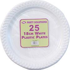 50 X Blanco Platos De Plástico 18cm Boda Cumpleaños Vajilla Partido Consumibles Nuevos
