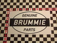 Ed Roth Style Brummie Genuine Parts Sticker -  Mini British BL Land Rover BMC