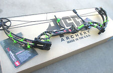 "NEW  PSE STINGER X SKULLWORKS 2 CAMO 70# BOW 21-30"" RH GREEN BARB WIRE KIT"