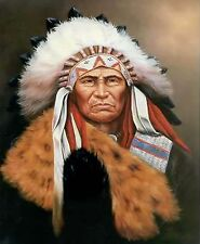 Native American~counted cross stitch pattern #342~People Western Graph Chart