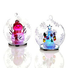 Winter Lane Set of 2 Color-Changing LED Glass Globes