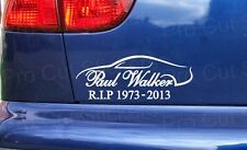 Paul Walker Custom Tribute Memorial RIP Car Van Bumper Window Sticker Decal F&F