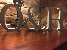 Wedding Centrepiece, Any 2 Letters plus an & Sign 13cm Large Duck Egg Letters